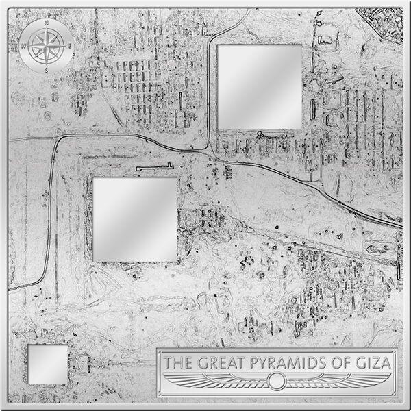 Fiji 2012 50$ Pyramids of Giza - 3D Landscape Proof Silver Coin