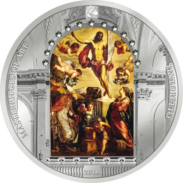 Cook Islands 2016 20$ Resurrection of Christ by Tintoretto Masterpieces of Art Easter Edition 3oz Proof Silver Coin