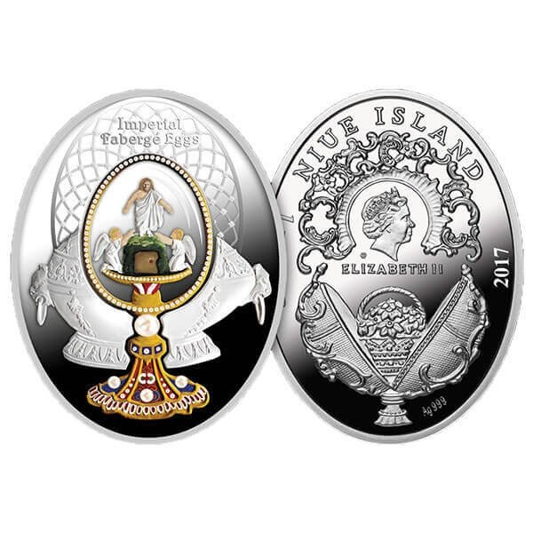 Ressurection Egg Faberge Eggs Proof Silver Coin 1$ Niue 2017