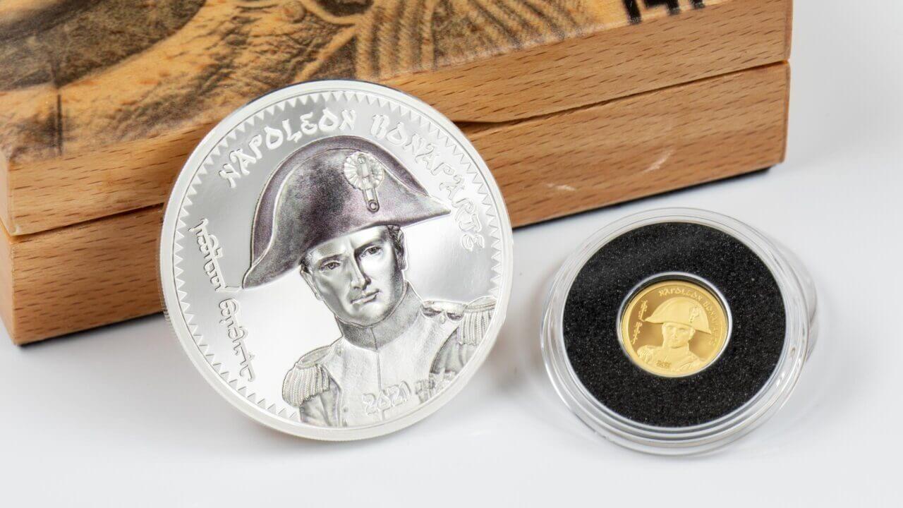 Napoleon Bonaparte 1 oz Proof Silver Coin Mongolia 2021 1000 togrog