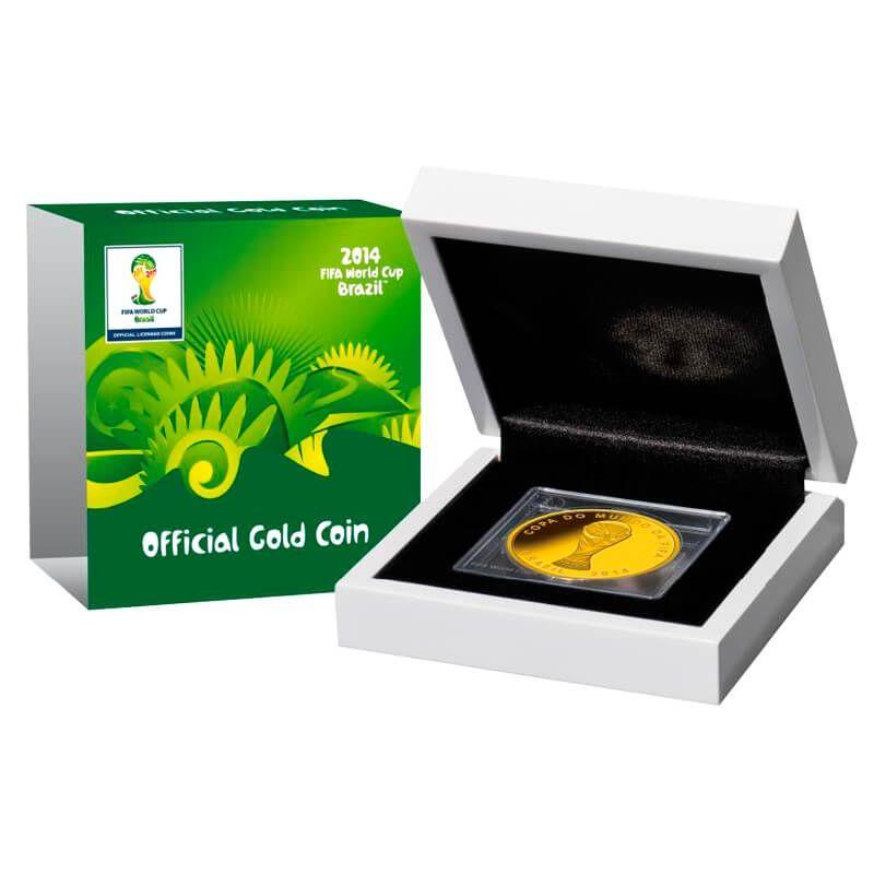 Spain 2013 100 euro FIFA World champions 2010 FIFA Brazil 2014 Proof Gold Coin