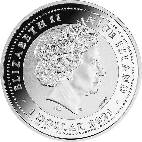 Tree of Luck 1 oz Proof Silver Coin 1$ Niue 2021
