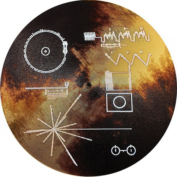 Voyager Golden Record The Sounds of Earth Proof Silver Coin 2$ Cook Islands 2020