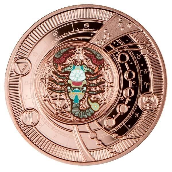 Scorpio Zodiac Signs Proof Silver Coin 500 Francs CFA Cameroon 2021