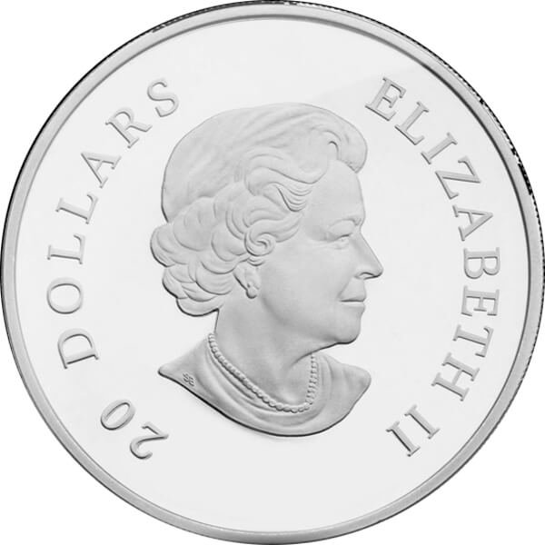 Blue Snowflake 2010 Proof Silver Coin 20$ Canada 2010