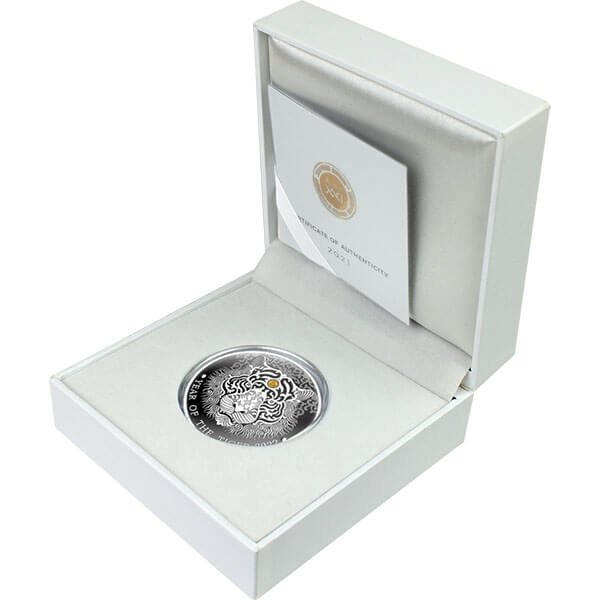 Year of the Tiger Lunar Year 1/2 oz Proof Silver Coin 2 Cedis Republic of Ghana 2022