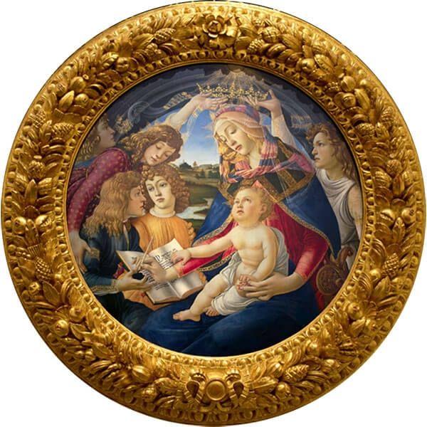 Madonna Del Magnificat Ave Maria Proof Silver Coin 500 Francs Cameroon 2017