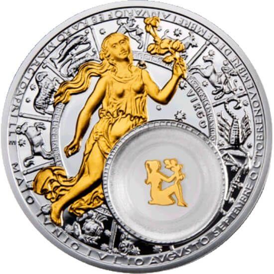 Virgo Proof Silver Coin 20 rubles Belarus 2013