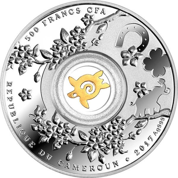 Lucky Seven Seven Turtles Proof Silver Coin 500 Francs Cameroon 2017