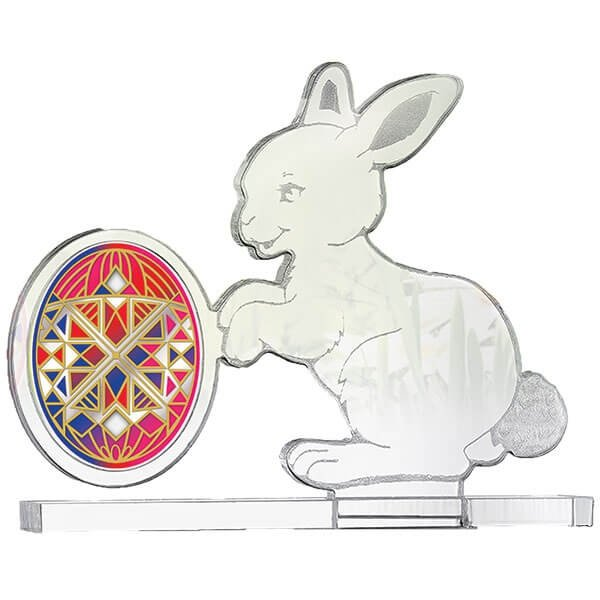 Happy Easter Proof Silver Coin 500 Francs Cameroon 2018