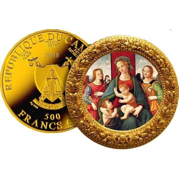 Raffaellino Del Garbo Ave Maria Proof Silver Coin 500 Francs Cameroon 2018