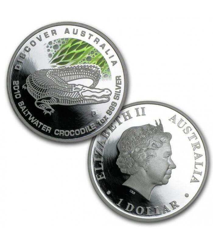 Discover Australia  Colored Proof Silver Coin Set 5x1$ Australia 2010