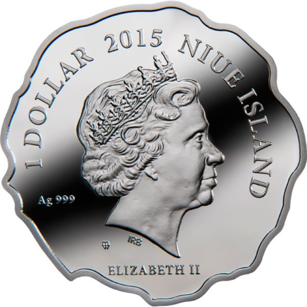Niue 2015 1$ Year of the Goat All the best!  Proof Silver Coin