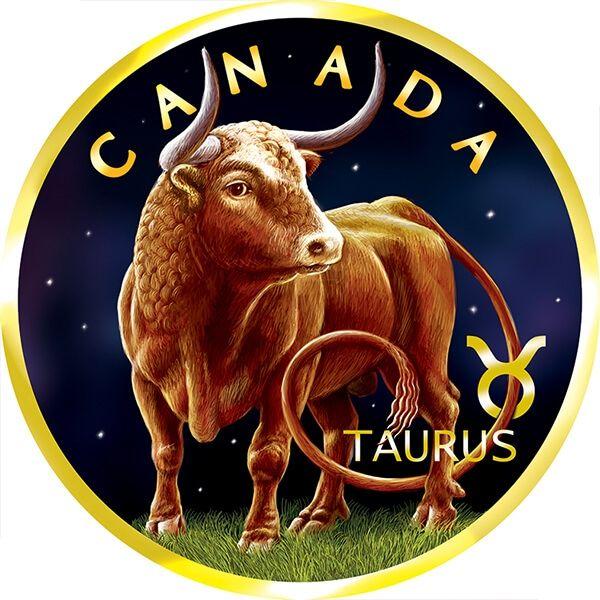 Maple Leaf Zodiac - Taurus 1 oz BU Silver Coin 5$ Canada 2019