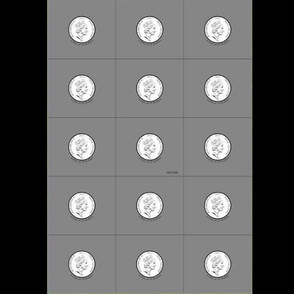 Niue 2013 15x1$ The Mystic Nativity Set  Silver Coin