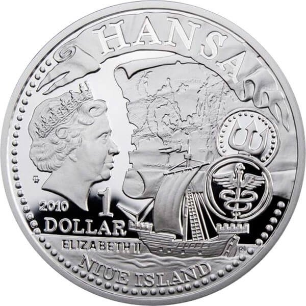 Słupsk Hanseatic Towns Proof Silver Сoin 1$ Niue 2010
