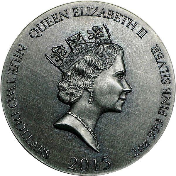 Biblical Coin  New Jerusalem 2 oz BU Silver Coin 2$ Niue 2015