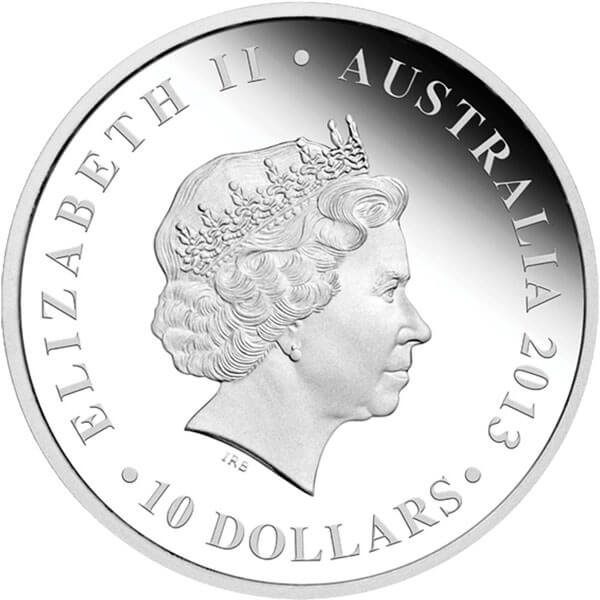 Australia 2013 10$ Sydney Opera House 2013. The Land Down Under 10 oz  Proof Silver Coin