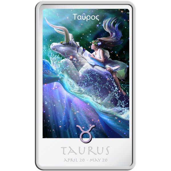 The Taurus Zodiac Series art by Kagaya Proof Silver Coin 2$ Niue 2011