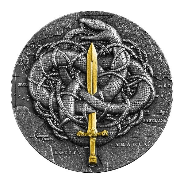 The Gordian Knot 2 oz Antique finish Silver Coin 2000 Francs Cameroon 2021