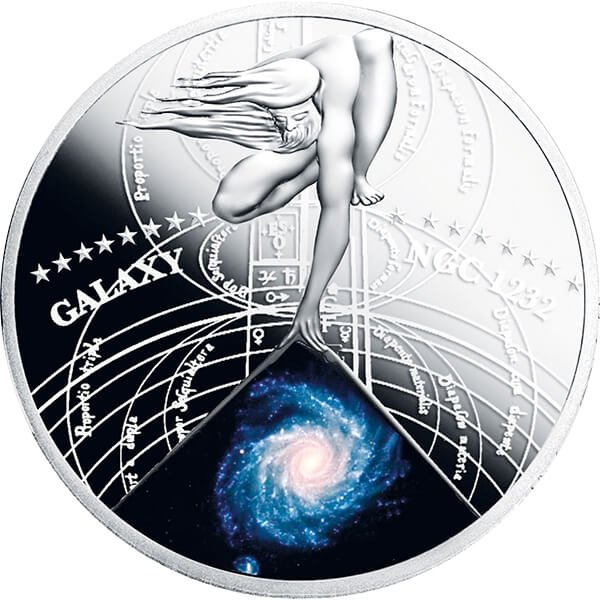 Niue 2015 1$ Spiral Galaxy NGC 1232  The Most Beautiful Galaxies Proof Silver Coin