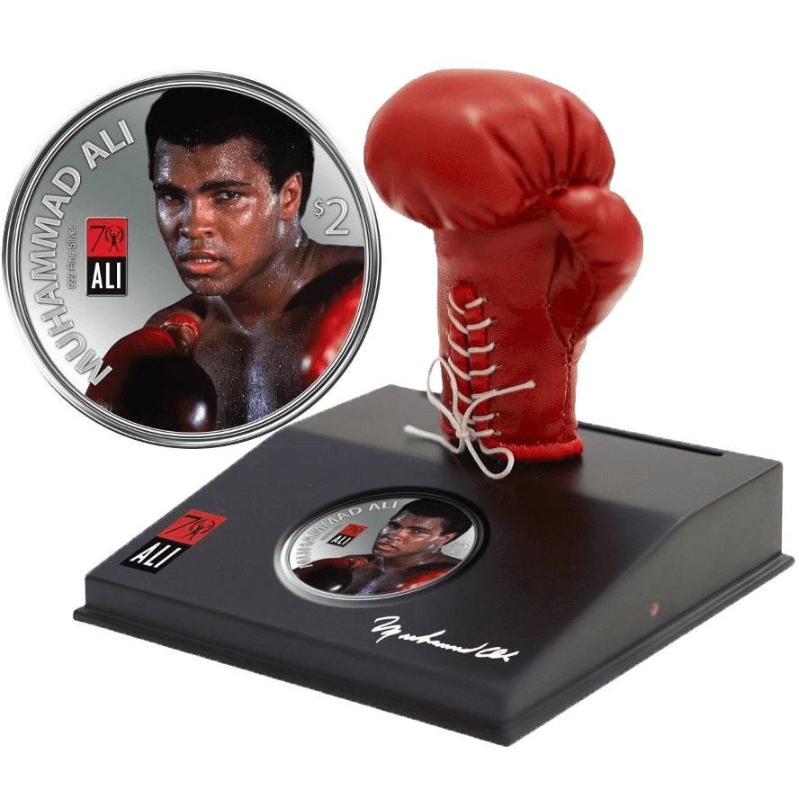Fiji 2012 2$ Muhammad Ali Coin Programme Proof Silver Coin