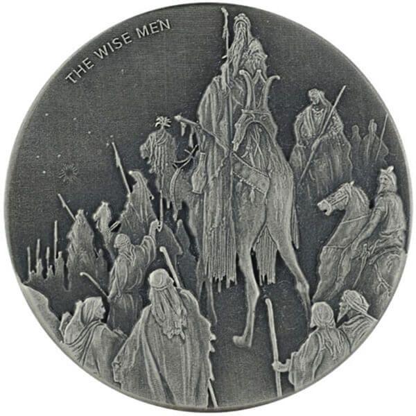 The Wise Men Biblical Coin 2 oz  BU Silver Coin 2$ Niue 2017