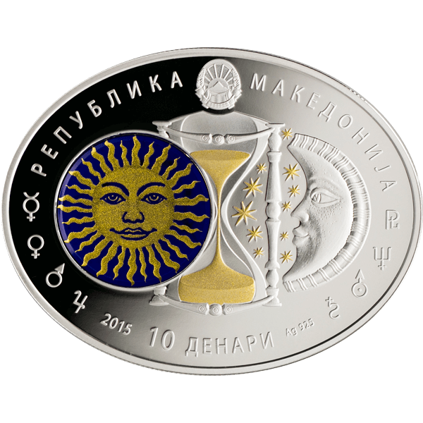 Macedonia 2014 10 Denars Cancer Signs of the Zodiac Proof Silver Coin