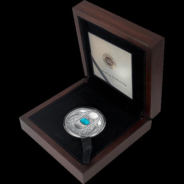 Scarabaeus 50 g Antique finish Silver Coin 2$ Niue 2021