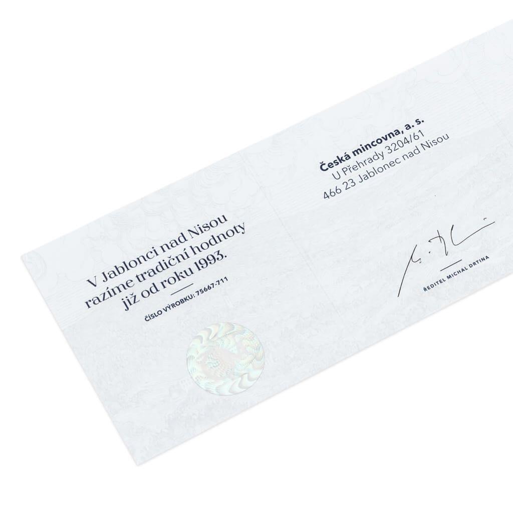 Alfred Nobel Century Geniuses 1 oz Proof Silver Coin 1$ Niue 2020
