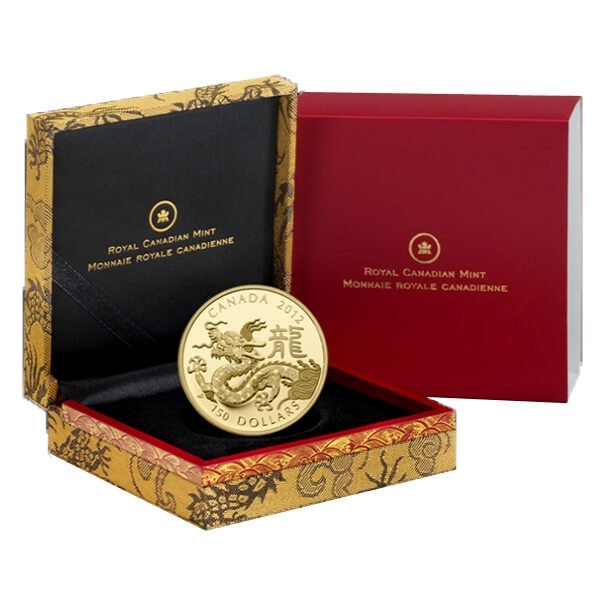 Year of the Dragon (2012) Proof Gold Coin 150$ Canada 2012