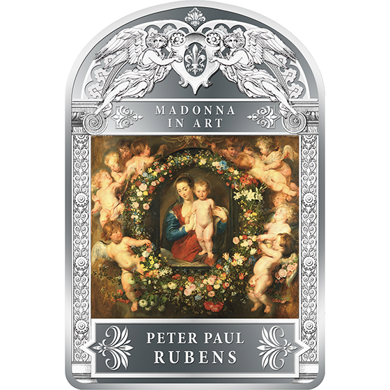 Andorra 2014 100 diners Madonna in Floral Wreath by Peter Paul Rubens 1 kg Proof Silver Coin