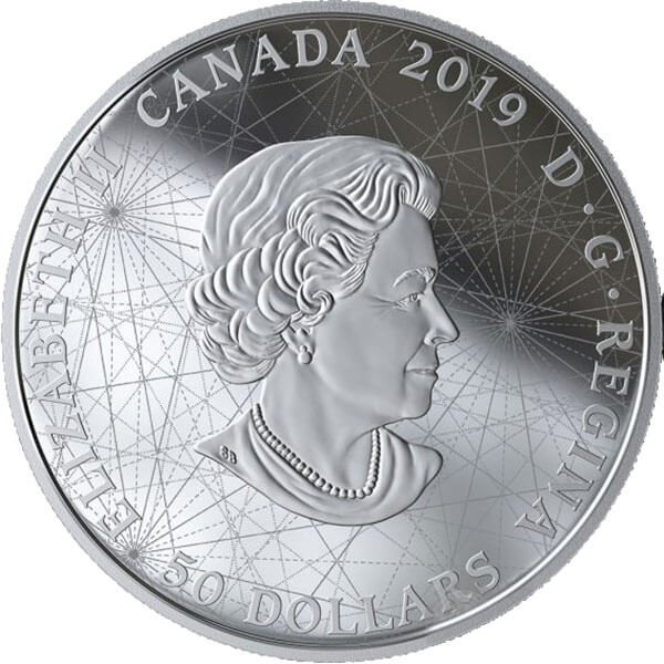 Rose of the Winds 5 oz Proof Silver Coin 50$ Canada 2019