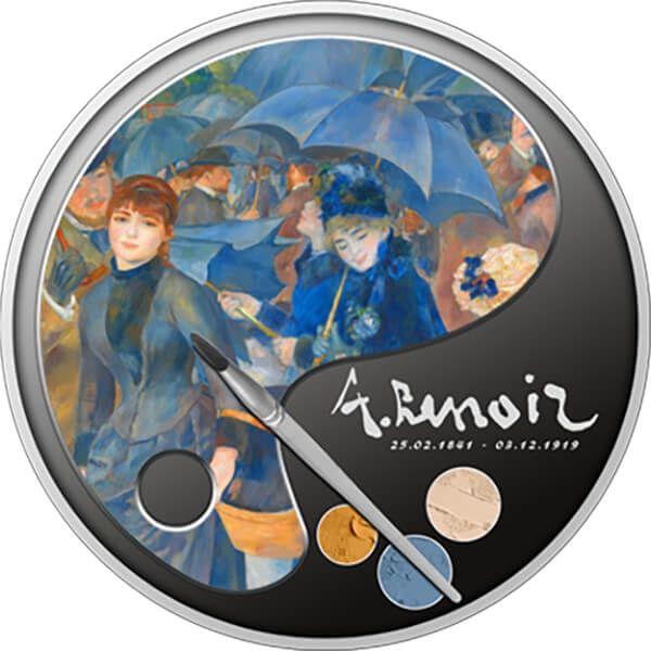 The Umbrellas 100th Anniversary of Death - Renoir Proof Silver Coin 1$ Niue 2019