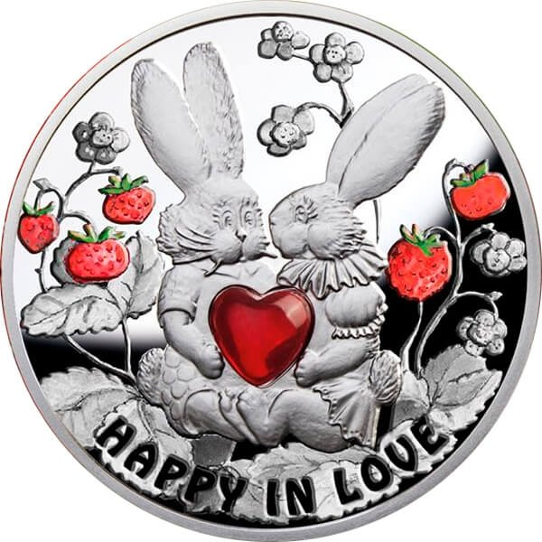 Niue 2012 1$ Happy in Love. Proof Silver Coin