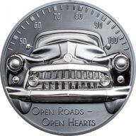 Classic Car Open Roads 2 oz Black Proof Silver Coin 10$ Cook Islands 2021