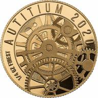 Autitium  1/4 oz Prooflike Gold & Titanium Coin 25$ Solomon Islands 2020