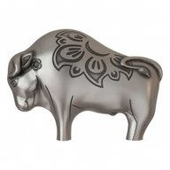 Mighty Silver Ox Lunar Year Collection 1oz Antique finish Silver Coin Mongolia 2021 1000 togrog