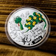 Year of the Snake for Kids. Chinese Calendar 1/2 oz Proof Silver Coin  1$ Niue 2012