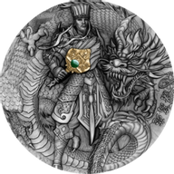 Zhuge Liang Famous Chinese Warriors 2 oz Antique finish Silver Coin 5$ Niue 2020