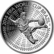 Belarus 2013 100 rubles The 2014 FIFA World Cup. Brazil 5 Oz Proof Silver Coin