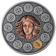 Virgo Zodiac Signs Antique Finish Silver Coin 1$ Niue 2019