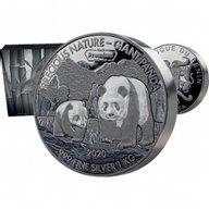 Mastersize Panda 1000g Proof-like Silver Coin 25$ Samoa 2018