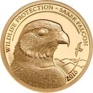 Mongolia 2016 1000 togrog  Saker Falcon  Proof Gold Coin 0.5
