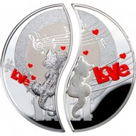 Niue 2013 2 x 1$ In Love Proof Silver Set