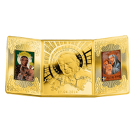 Niue 2014 20$  The canonization of John Paul II  Gold Plated 4 oz Limited Edition Proof Silver Coin