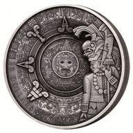 Maya Heritage Multiple Layer Coin 1 Kilo Antique finish Silver Coin 25$ Samoa 2018