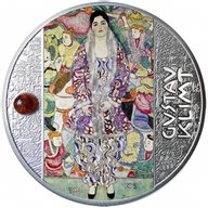 Portrait of Friederike - Maria Beer Gustav Klimt  Proof Silver Coin 500 Francs CFA Cameroon 2021