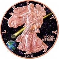 Admire Meteorite USA Liberty Atlas of Meteorite 1 oz BU Silver Coin 1$ United States 2015