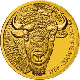 Belarus 2012 50 rubles BISON. BISON BONASUS Proof Gold Coin